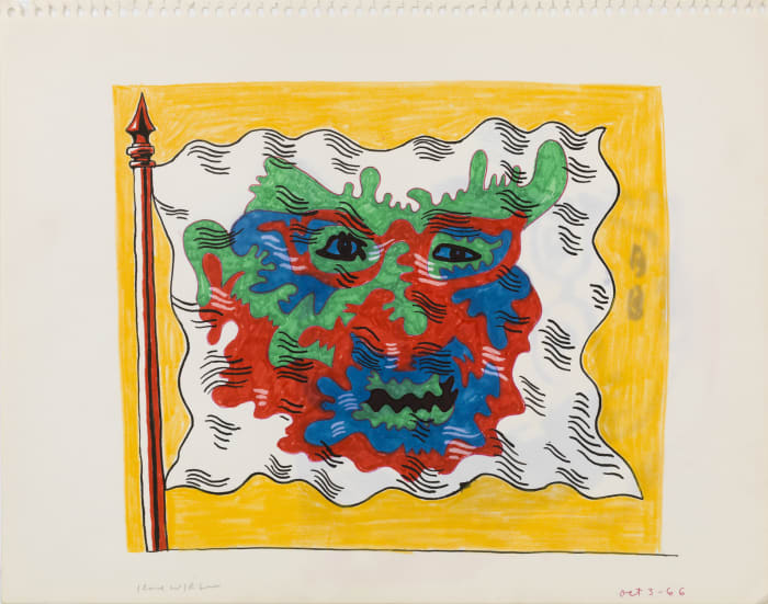Untitled (Study for Flag Series) by Karl Wirsum