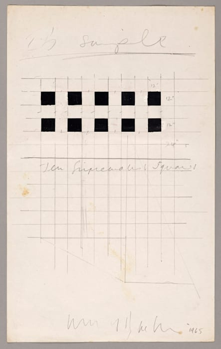 Ten Suprematist Squares (Paradoxes of the Absolute Zero) by Art & Language