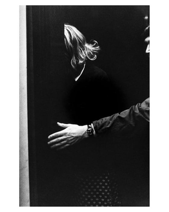 Roberta in an Adventure Riding Elevator by Lynn Hershman Leeson