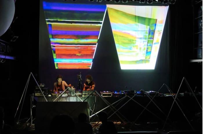 Video Feedback Live Performance by Masayuki Kawai