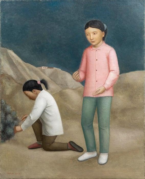 段建伟/ Duan Jianwei 采摘/ Picking 2016 布面油画/ Oil on canvas 160×130cm by Duan Jianwei