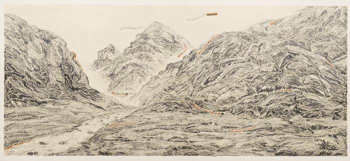 Pen Walking #163 (Mount Kailash Pilgrimage) by Shi Jin-Hua
