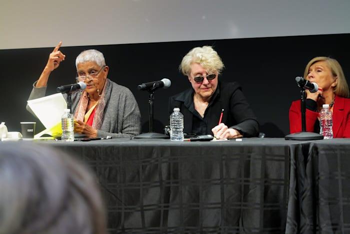 Seminar Lecture, David Harvey, Chantal Mouffe, Martha Rosler, Gayatri Spivak, Cassandra Guan, Activism  and Critique, Whitney Museum of American Art,  New York, 10/20/2018 (image 4/4) by Rainer Ganahl