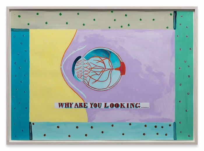 Why Are You Looking… by Lubaina Himid