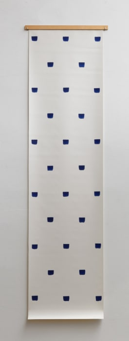 Empreintes de pinceau n°50 à intervalles réguliers de 30 cm by Niele Toroni
