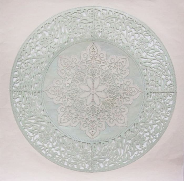 All The Flowers Are For Me (Mint) by Anila Quayyum Agha
