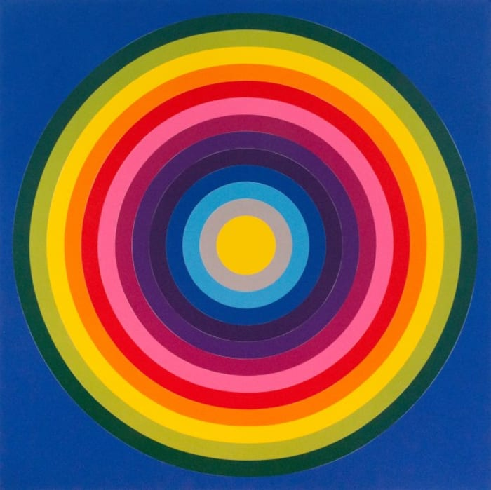 Sun Target, Blue by Polly Apfelbaum