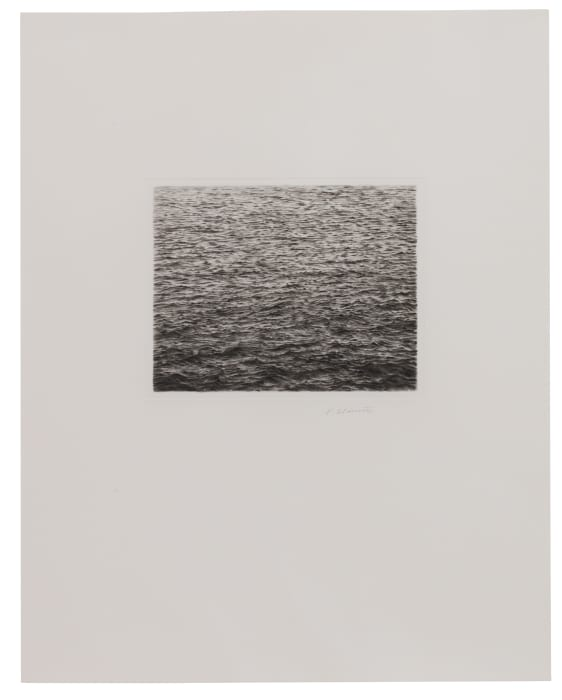 Drypoint Ocean Surface (Second State) by Vija Celmins