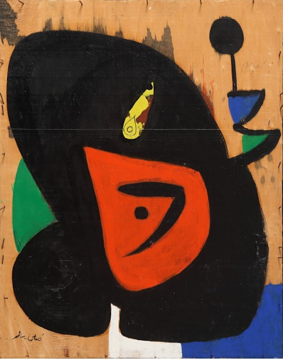 Figure and Bird by Joan Miró
