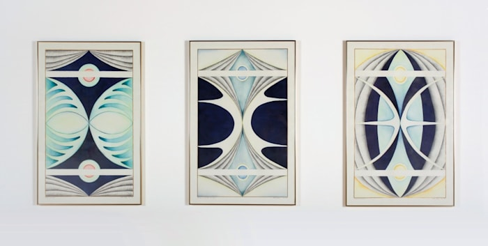 Moth Triptych by Faith Wilding