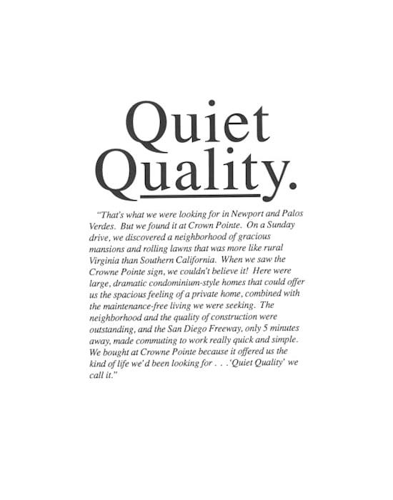 Quiet Quality by John Knight