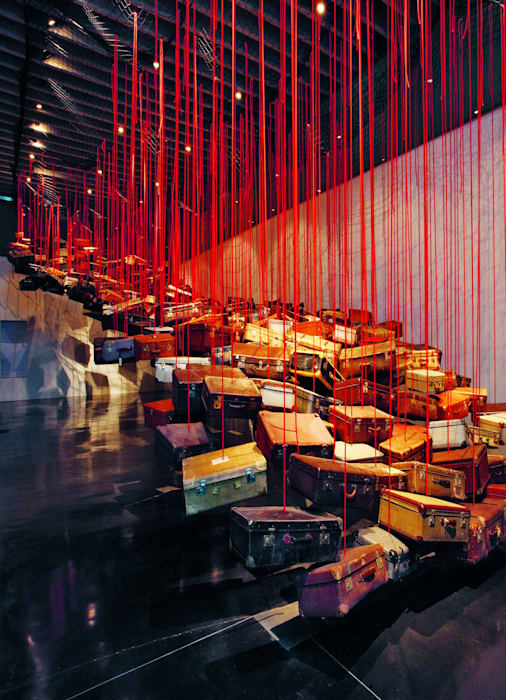 Accumulation: Searching for Destination by Chiharu Shiota