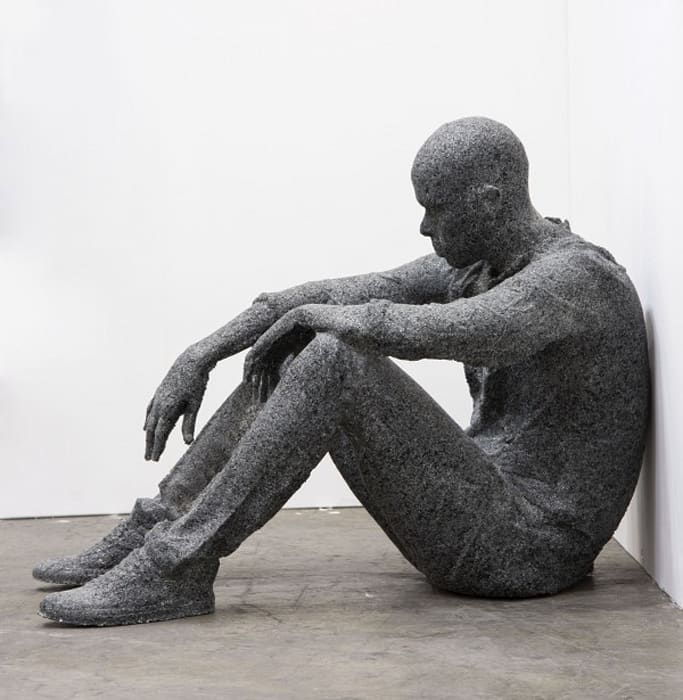 Seated Figure by Daniel Arsham