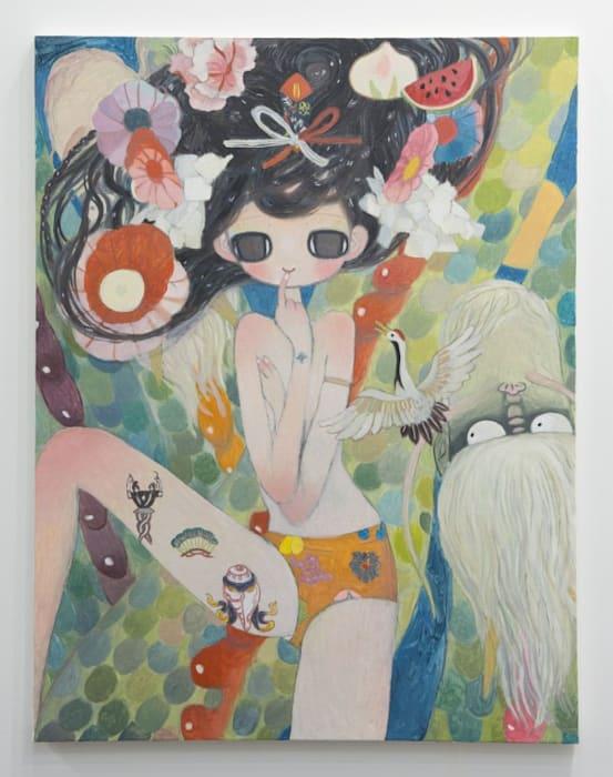 Rising Green Dragon and Lucky Omens by Aya Takano