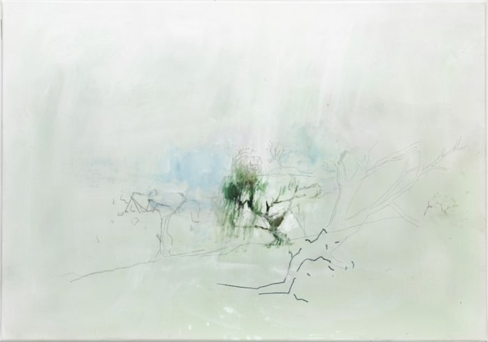 An dem Bach im Regen 3 by Kailiang Yang