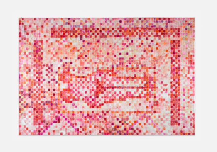 "Basel Bruised Grid 1 (based on ""Centre de Recherche"" by J. Koether) by Jutta Koether"