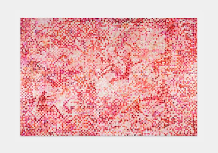 "Basel Bruised Grid 2 (based on ""Phaeton/Helios"" von N. Poussin) by Jutta Koether"