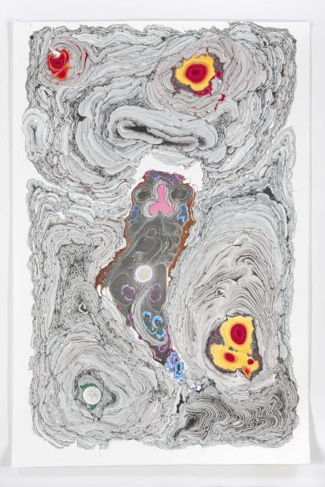 Unstable Talismanic Rendering _ Pele's Curse Nr. 9 (with gratitude to master marbler Dirk Lange) by Kerstin Brätsch