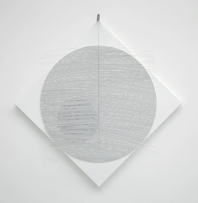 Circulo virtual blanco con gris by Jesús Rafael Soto