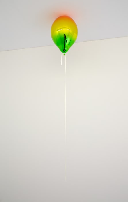 Light Red, Medium Yellow and Dark May Green Mirror Balloon by Jeppe Hein