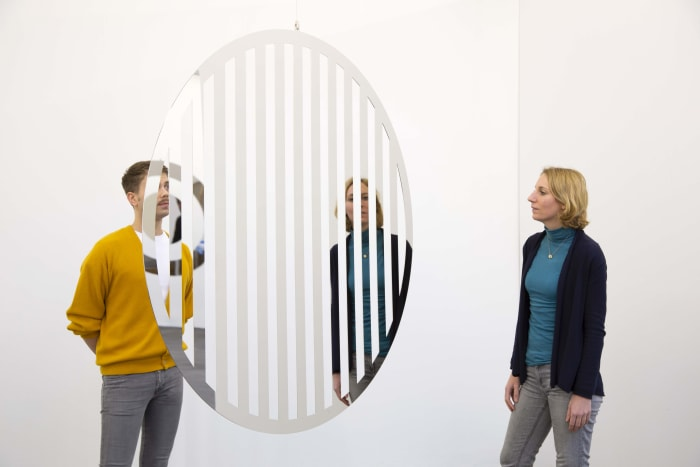 Rotating Mirror II by Jeppe Hein