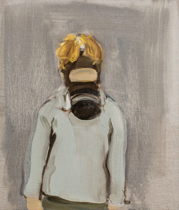 Boy With A Gas Mask by Gideon Rubin
