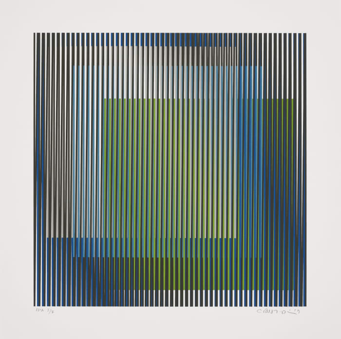 Induction chromatique à double Fréquence  2 by Carlos Cruz-Diez