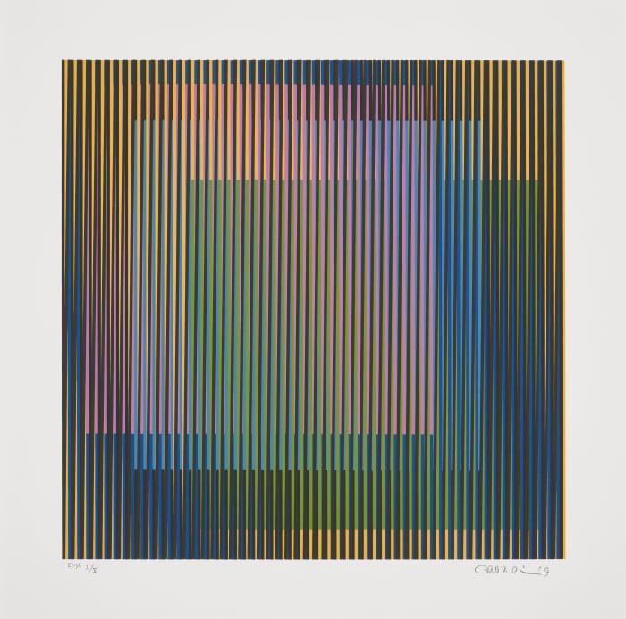 Induction chromatique à double Fréquence 1 by Carlos Cruz-Diez