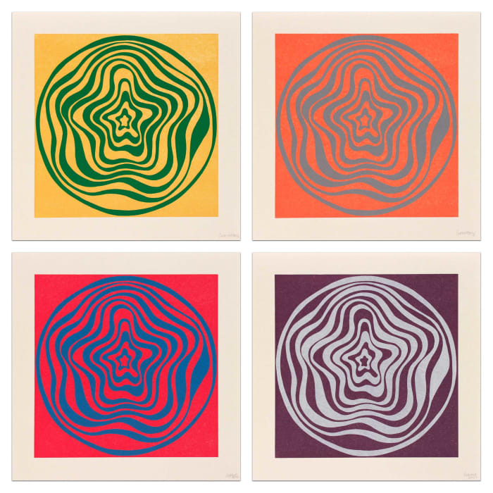Concentric Irregular Bands by Sol LeWitt
