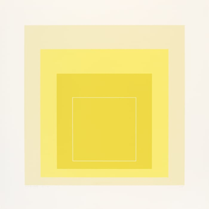 White Line Square XVII by Josef Albers