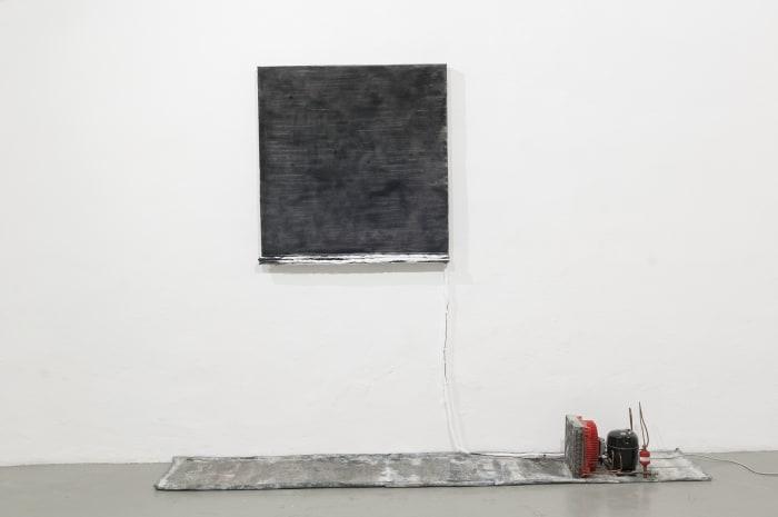 Untitled (black salt) by Pier Paolo Calzolari