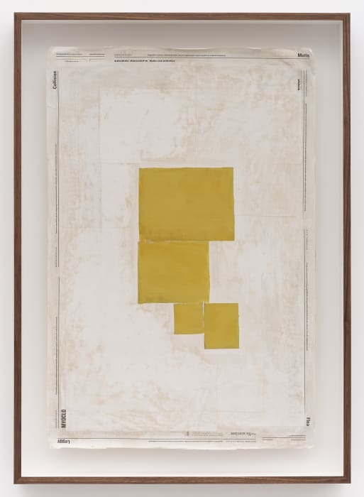 Composition with Yellow by Mark Manders