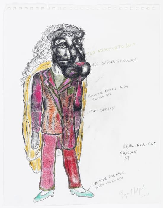 Untitled (Fashion Drawing) by Bjarne Melgaard