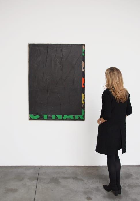Black-Blank Cynar 2 by Mimmo Rotella
