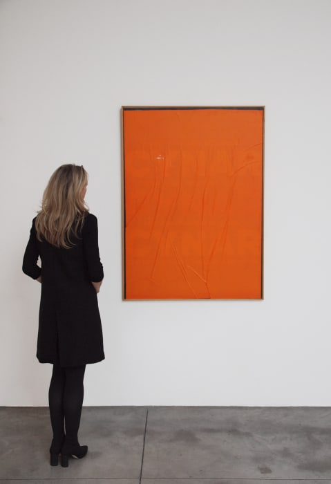 Orange Blank by Mimmo Rotella