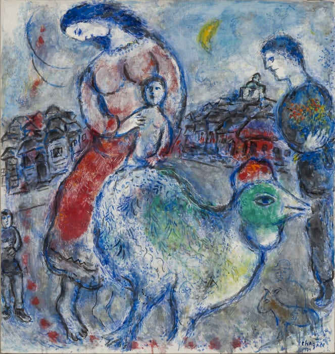 Les Villageois by Marc Chagall