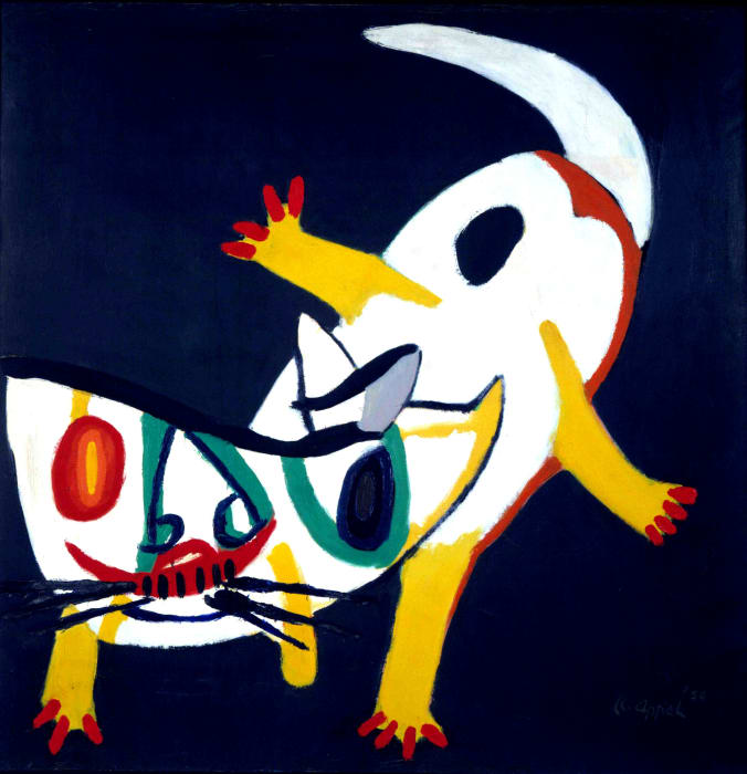 CAT IN THE NIGHT by Karel Appel