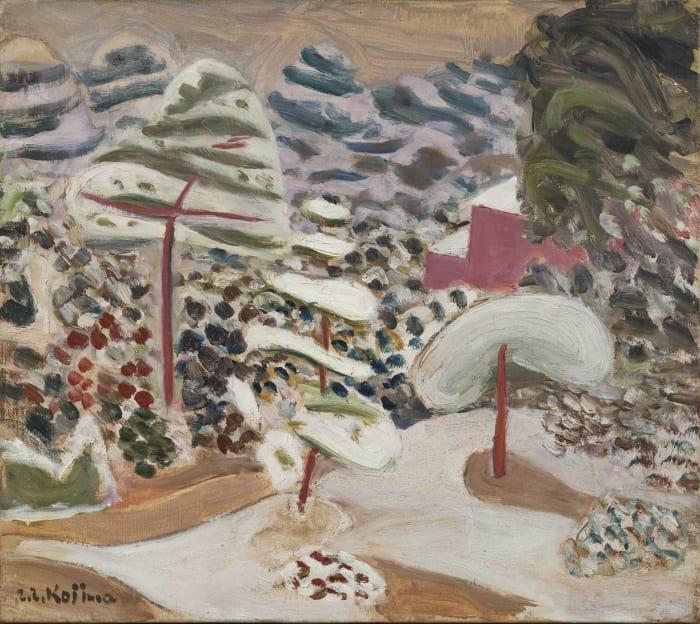 Garden in Snow by Zenzaburo Kojima