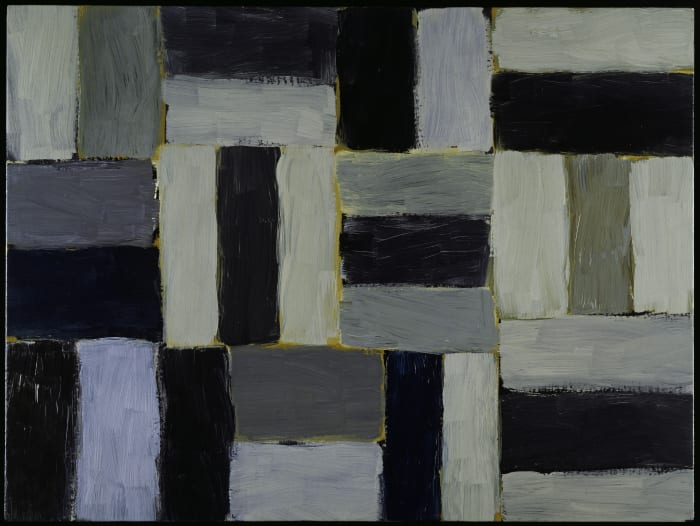 Small Barcelona grey wall of light by Sean Scully
