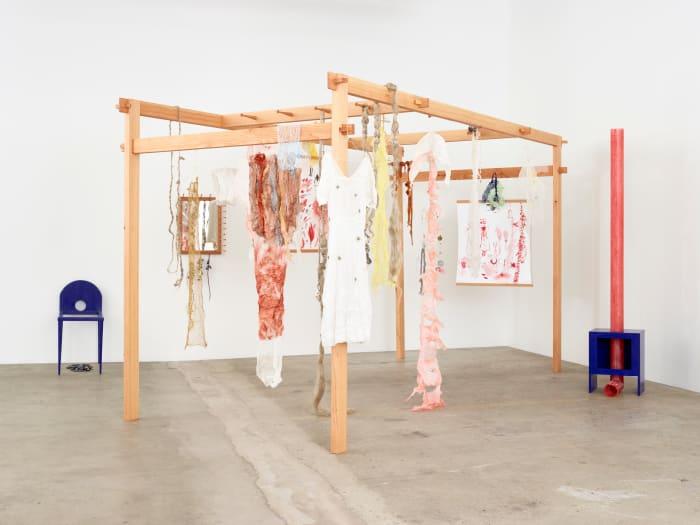 think/ thin silk paper/ dressed in fragments [...] by Astrid Svangren