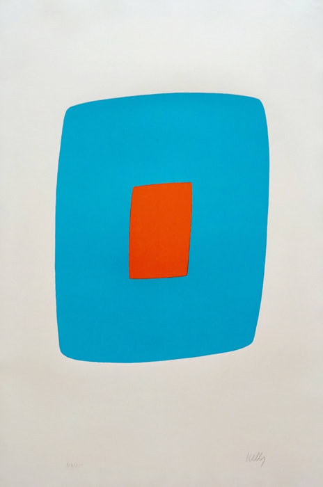 Light Blue with Orange by Ellsworth Kelly