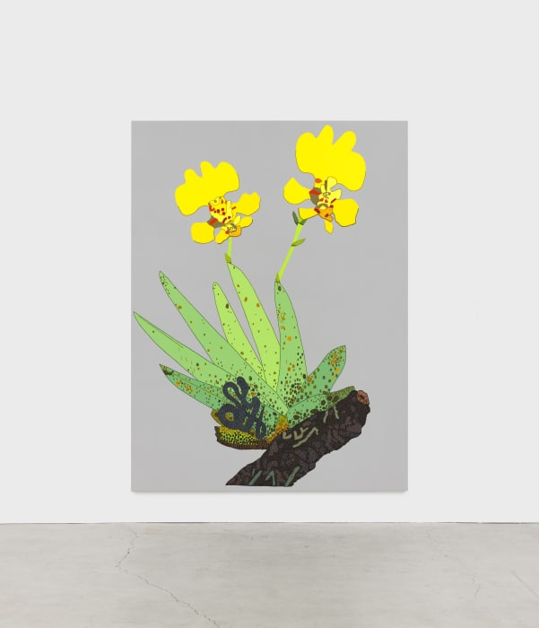 Yellow Orchid with Baby Snake by Jonas Wood