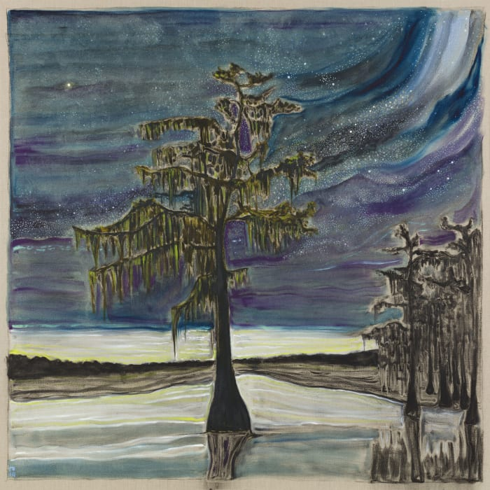 cypress with stars by Billy Childish