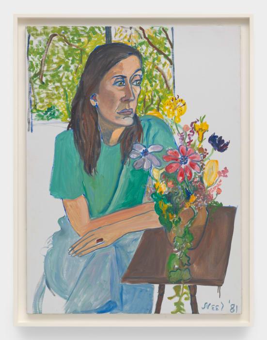 Nancy with Flowers by Alice Neel