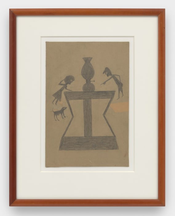 Lamp, Abstract Table, Figures, and Dog by Bill Traylor