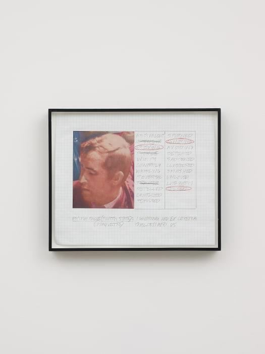 Prima Facie (Fourth State): Ignoring and Et Cetera (Maquette) by John Baldessari