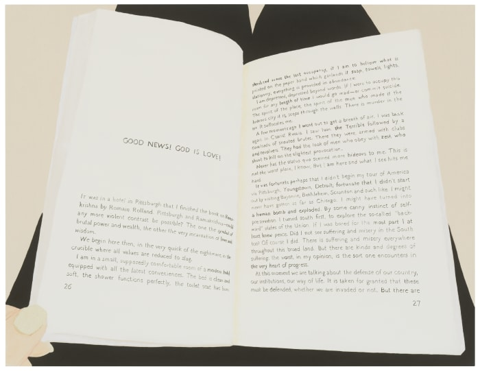"""""""Reading Henry Miller's Air-Conditioned Nightmare from the mid-1940's"""" by Frances Stark"""