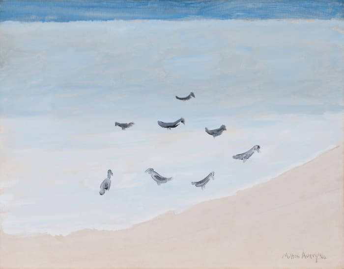 Eight Birds Resting by Milton Avery