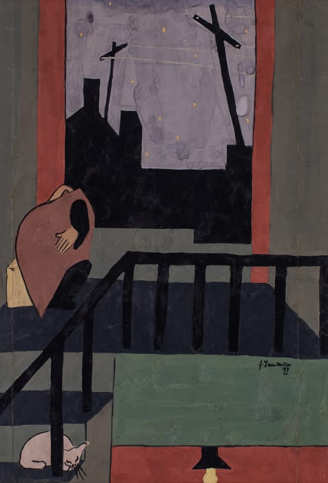 Christmas in Harlem by Jacob Lawrence