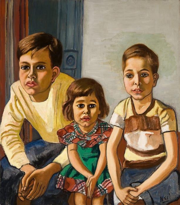 Robert, Helen and Ed by Alice Neel